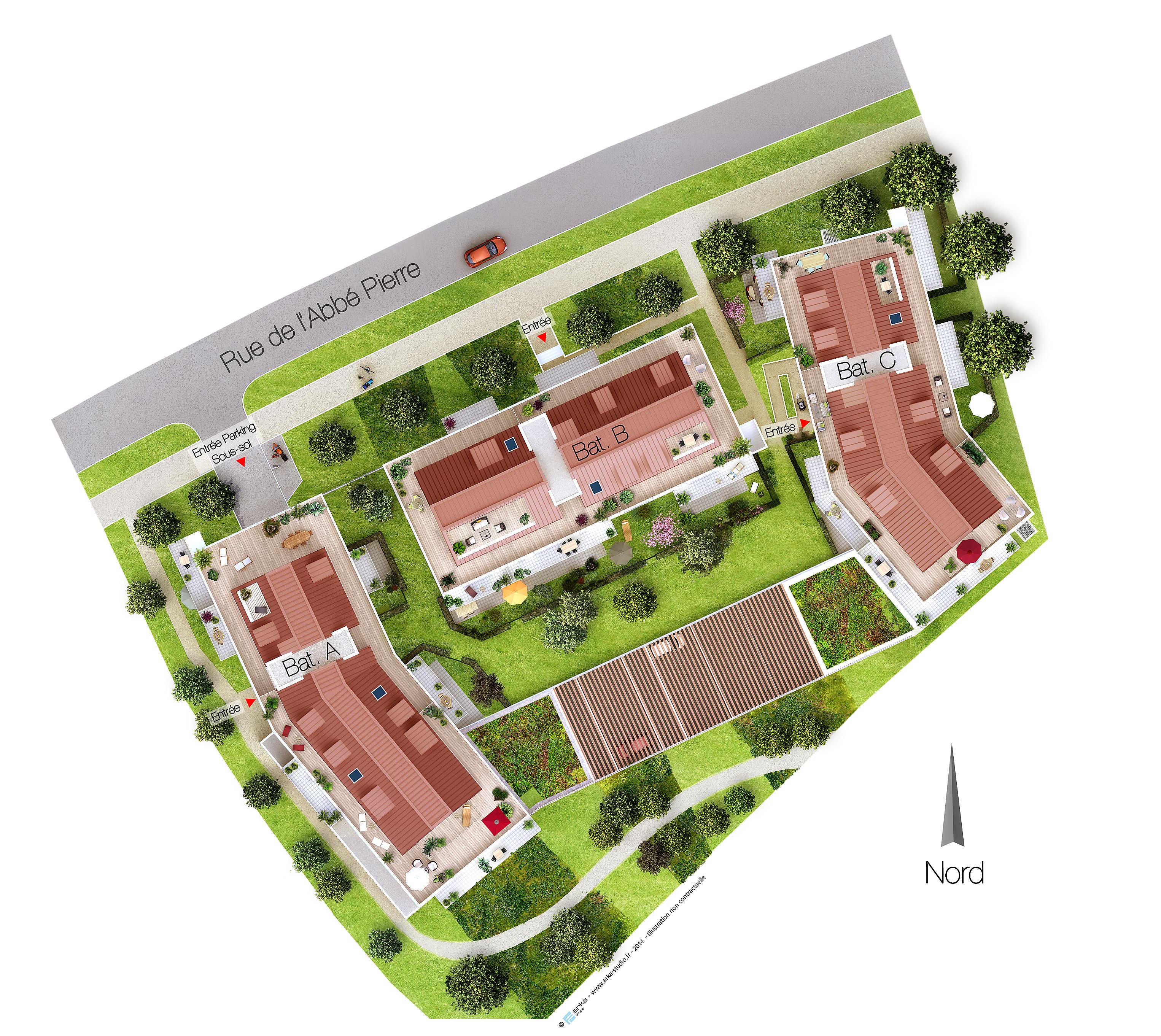Programme immobilier neuf castel parc saint gr goire for Porte noire salon winter park