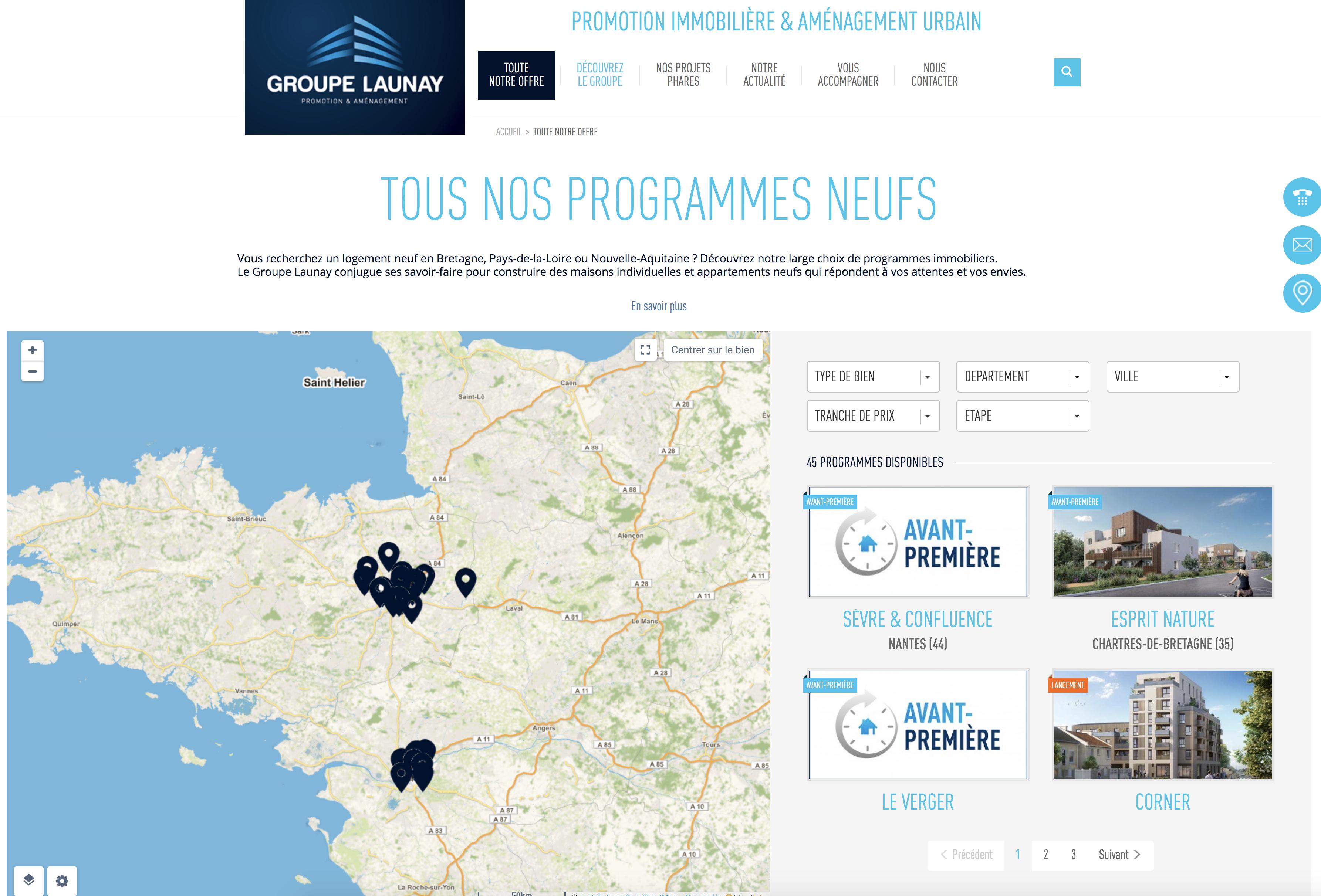 Site internet Groupe Launay Toute notre offre