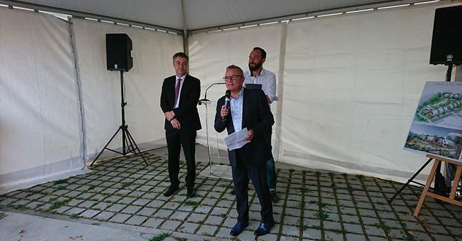 Discours de Franck Launay à la pose de 1ère pierre de Westwood et Cosy Garden à Chantepie.