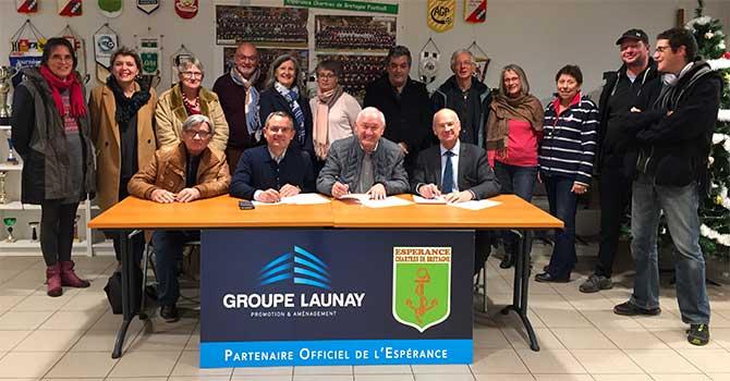 Groupe Launay, partenaire officiel de la Fédération Espérance à Chartres-de-Bretagne