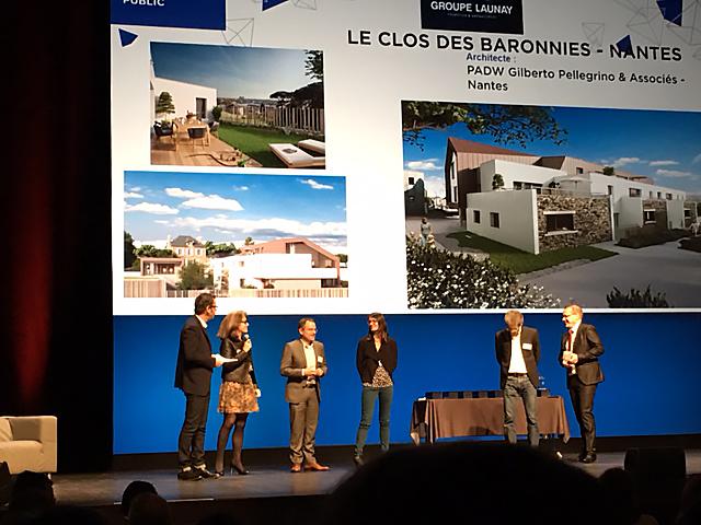 Prix GRDF Grand Public Le Clos des Baronnies Pyramides d'argent 2017 FPI Groupe Launay