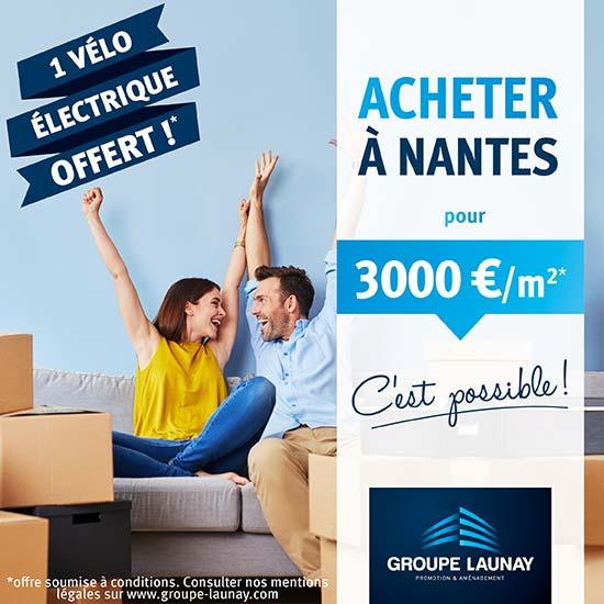 White à Nantes - Un vélo électrique offert pour tout achat en résidence principale - Groupe Launay