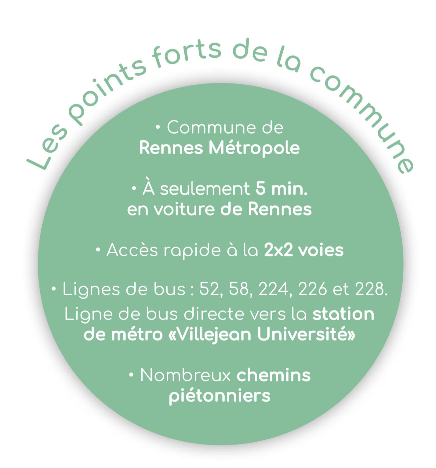 Les atouts de la commune La Chapelle des Fougeretz - Azurea - Groupe Launay
