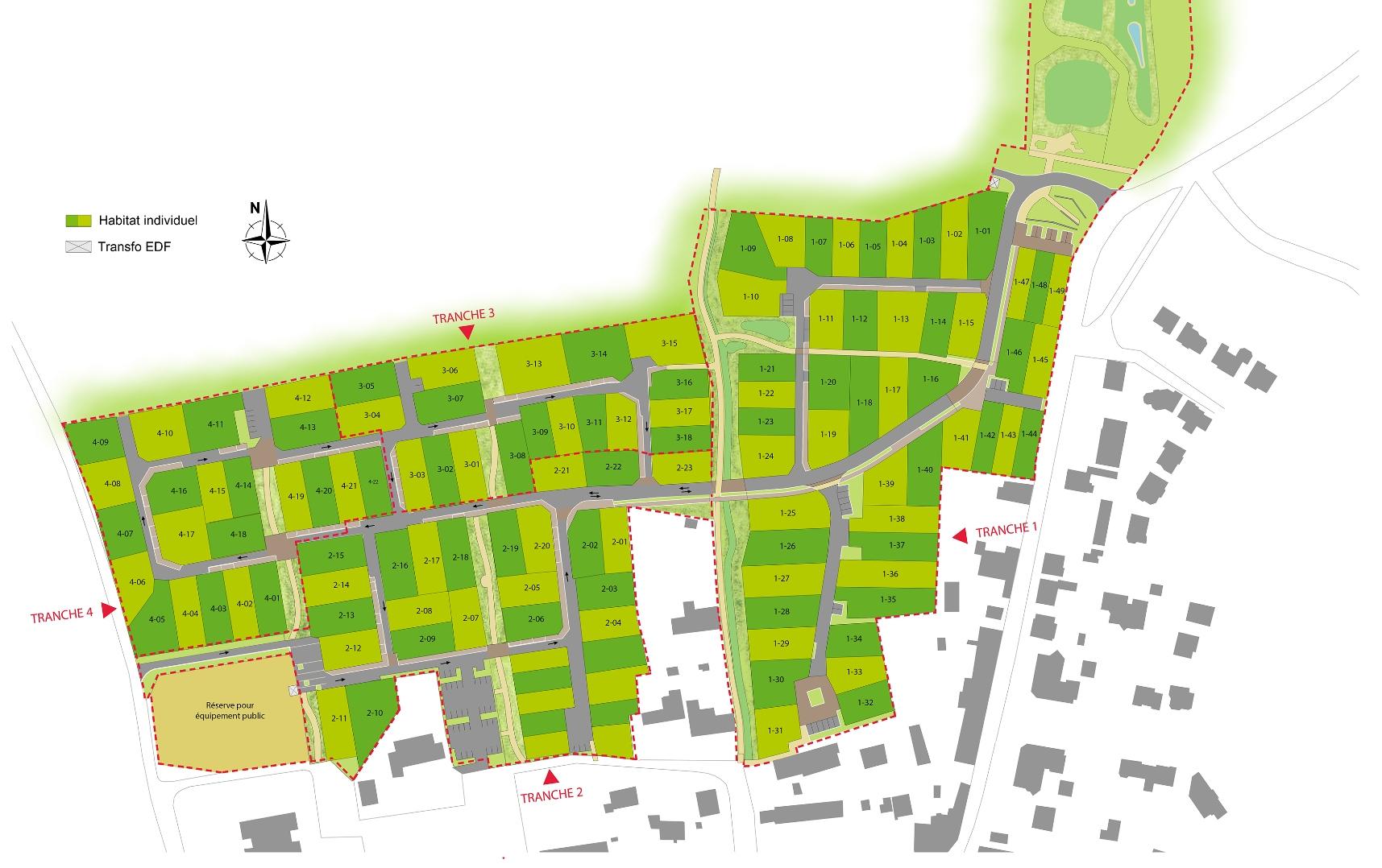 Terrains vendre vignoc ille et vilaine groupe launay - Plan de masse et plan de situation ...