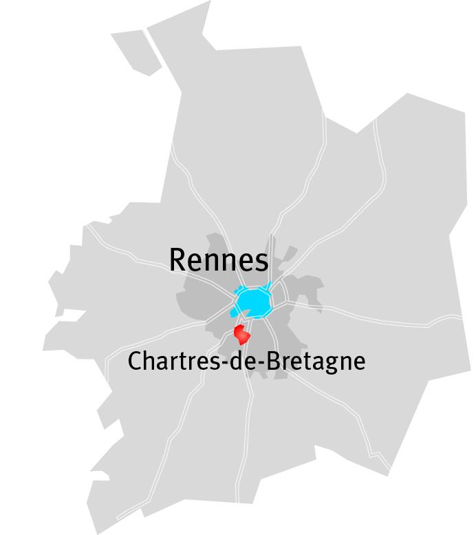 Programme immobilier neuf green park chartres de for Piscine de chartres de bretagne